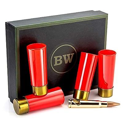 BarrelWare Premium Glass   Shot Glasses, Bullet Shot Glass, Bullet Glass, Groomsmen Shot Glasses   Shot Glass Set, Shotgun Shell Shot Glasses, Bullet Shot Glasses for Men, Bullet Shot Glasses