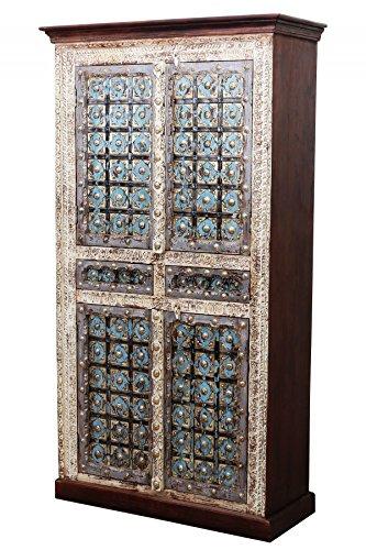 Billur Kast, oosterse kast, 1-185 cm hoog, Marokkaanse vintage gangkast, smal, Oosterse kasten van massief hout, voor de hal, slaapkamer, woonkamer of badkamer