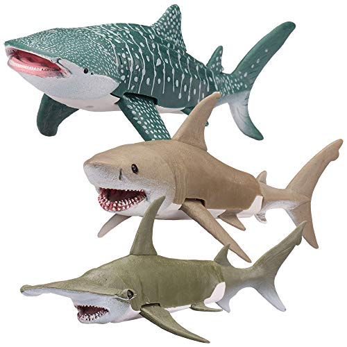 Kid Galaxy 9' Poseable Ocean Action 3 Pack - Sharks Edition