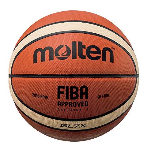 Molten BGL - Pallone da basket, marrone, misura: 7