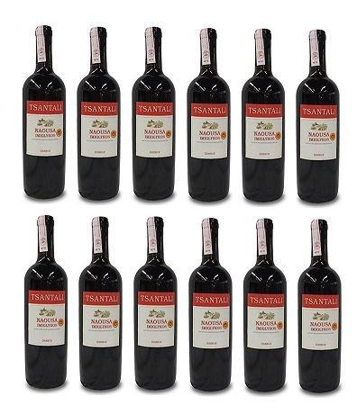 12x Imiglykos Naousa Rotwein lieblich Tsantali je 750ml/11,5% + 2 Probier Sachets Olivenöl aus Kreta a 10 ml - griechischer roter Wein Rotwein Griechenland Wein Set