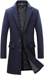 BININBOX Nuevos abrigos de lana para hombres de moda, cazadora gruesa y cálida, chaqueta informal para hombres, otoño e in...