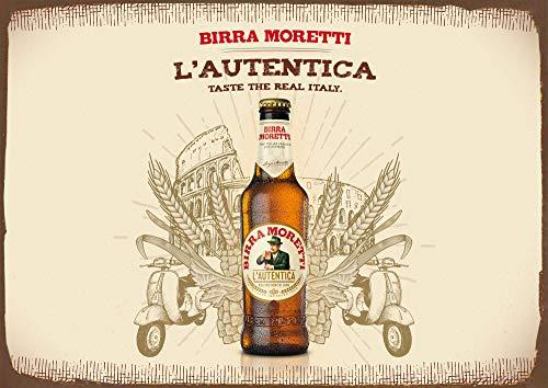 Placa de metal de 20,3 x 30,5 cm, diseño de cerveza italiana...