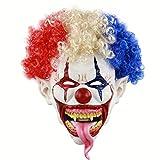 Yodensity Halloween Latex Maske Dämon Clown Horror Kostüm Gesichtsmaske für Bar Party Karneval