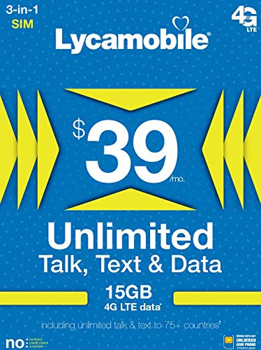 $39 Unlimited International Plan
