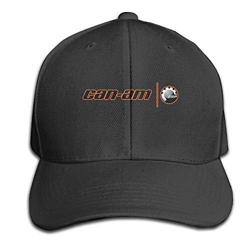 BACADI Unisex Can Am Spyder Logo Adjustable Peaked Baseball Caps Hats Duck Tongue Hat Black