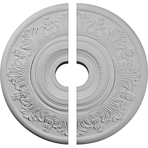 "Ekena Millwork CM20VI2 Vienna Ceiling Medallion, 20""OD x 3 1/2""ID x 1 1/2""P (Fits Canopies up to 6 1/2""), Factory Primed"