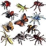 Wildlife Animal Insect Figures Toy, Plastic...