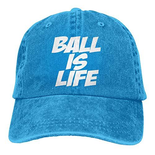 KioHp Ball is Life Classic Plain Diverse Stijl Grote Honkbal Cap Fit Outdoor Activiteiten Sport Comfort Katoen Zes Panel Cap Blauw