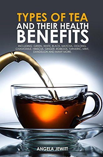 Types of Tea and Their Health Benefits Including Green, White, Black, Matcha, Oolong, Chamomile, Hibiscus, Ginger, Roiboos, Turmeric, Mint, Dandelion and many more.