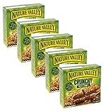 Nature Valley - Barras de cereales crujientes, 100% copos de avena enteros y miel, sin colorantes ni conservantes, sin lactosa, aptas para vegetarianos, 5 x 210 gramos (5 x 10 barras)