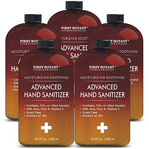 Bulk Size(Pack of 5) Hand Sanitizing Advanced Gel with Dispensing top; Infused with Aloe Vera Gel Sanitize Gel /Hand Wash /Hand Soap /Hand Lotion