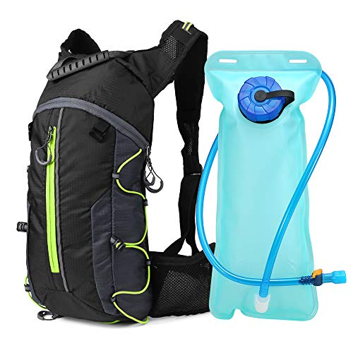 Lixada Cycling Hydration Backpack Lightweight Outdoor Sports Backpack Foldable Biking Riding Hydration Backpack with 2L Water Bladder