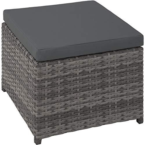 TecTake 403086 Aluminium Poly Rattan Sitzgruppe 6+1+4, klappbar, für bis zu 10 Personen, inkl. Schutzhülle und Edelstahlschrauben, grau - 2