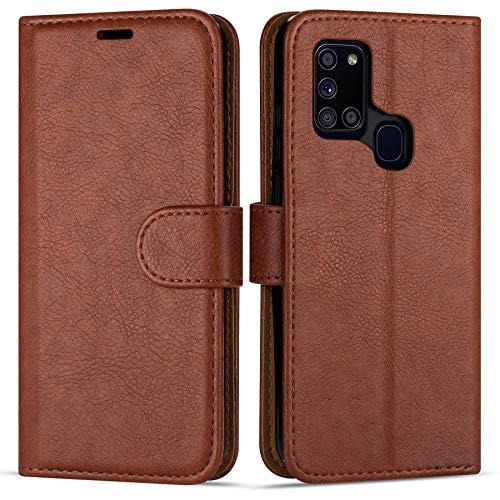 Hülle Collection Hochwertige Leder hülle für Samsung Galaxy A21s Hülle (6,5