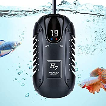 PGFUNNY 100W Aquarium Heater Adjustable LED Digital Temperature Display Smart Thermostat Betta Fish Heater for Betta Tank Heater with Protective Guard