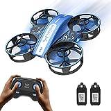 NEHEME NH330 Mini Drone per Bambini Principianti Adulti, Quadricottero RC con Modalità Headless, Lancia per Andare, Flip 3D e 2 Batterie, Giocattoli Telecomando per Ragazzi Ragazze - Blu