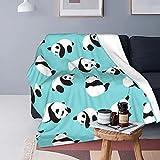 Lindo Panda Home Viajar Camping Cama Franela Fleece Dormitorio Manta