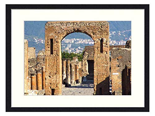 OiArt Wall Art Canvas Prints Wood Framed Paintings Artworks Pictures(20x14 inch) - Italy Pompeii Architecture Antique Roman
