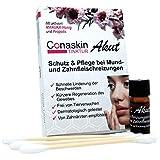 Linderung bei Beschwerden durch APHTHEN, HERPES & Zahnfleischentzündungen | Conaskin Tinktur AKUT mit Bambus-Wattestäbchen | 1,5 ml | OHNE CHEMIE