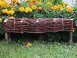 Damian-Wiklina Palissades en Osier - Cadre de lit - Clôture en Osier - Bordure de pelouse - Palissade - Produit UE (100x10/20 cm)