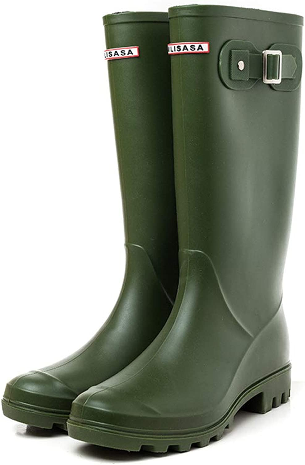 Excellent.c Rubber shoes Waterproof Boots Women's Tube rain Boots Water shoes