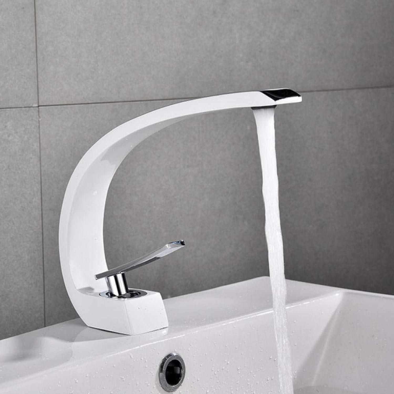 Lddpl Wasserhahn Waschtischarmaturen Moderne Waschbecken Mischbatterie Messing Waschbecken Wasserhahn Einhand Einlochmontage Elegante Kran Für Bad E