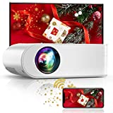 """YABER V2 WiFi Mini Projector 6000 Lux [Projector Screen Included] Full HD 1080P and 200"""" Supported, Portable Wireless Mirroring Projector for iOS/Android/TV Stick/PS4/PC Home & Outdoor - Best Reviews Guide"""