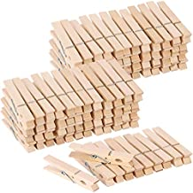 100pcs Large Wooden Clothespins Bulk Heavy Duty Clothes Pins for Laundry Hanging Clothing Crafts Pictures