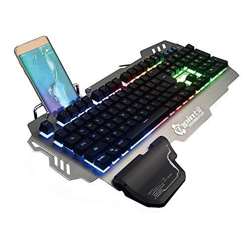 NCBH-toetsenbord van metaal, vers, een licht, gemengd, bekabeld, kan in het mechanische Axis Gaming-toetsenbord worden gebruikt, voor thuis en op kantoor.