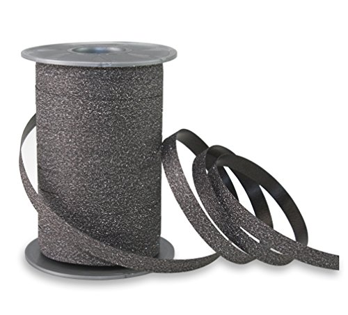 Präsent - POLY GLITTER Ringelband - schwarz - 100-m-Spule 10 mm