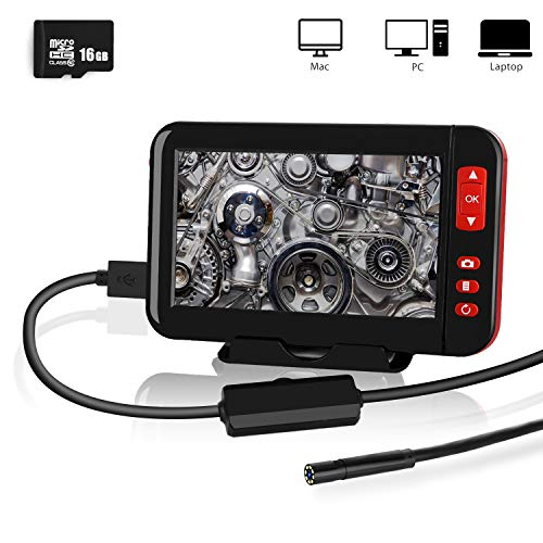 Industrial Endoscope, YOMERA 4.3inch 1080P HD LCD Screen 8mm Borescope...