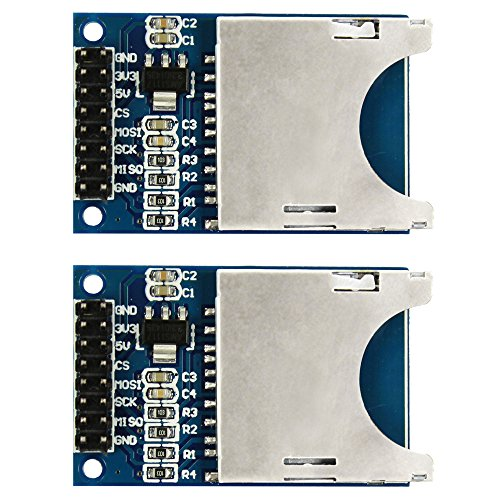 COM-FOUR® SD Card Reader SPI SD Card Socket per Arduino Arm MCU (2 PCS)