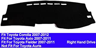 AUCD Car Dashboard Cover Dash Mat for Toyota Corolla Axio Fielder 2007 2008 2009 2010 2011 Auto Non-Slip Sun Shade Pad Carpet