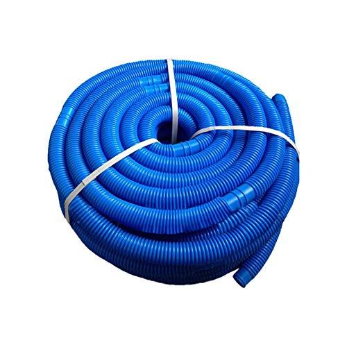 ARTOCT Manguera de piscina, diámetro de 32 mm, bomba de agua de cloro, manguera flexible, manguera de agua resistente a los rayos UV, manguera de piscina, azul