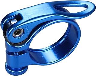 YOBAIH Abrazadera De Poste Asiento Completo 3K Fibra de Carbono Tija de sill/ín Abrazadera for la Bicicleta del Anuncio de Piezas 31.8mm 34.9mm