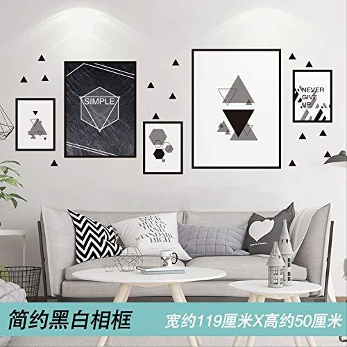 3D Driedimensionale Muurstickers Slaapkamer Interieurstickers Kamer Schilderij Behang Zelfklevend 119X50Cm Zwart-Wit Fotolijst