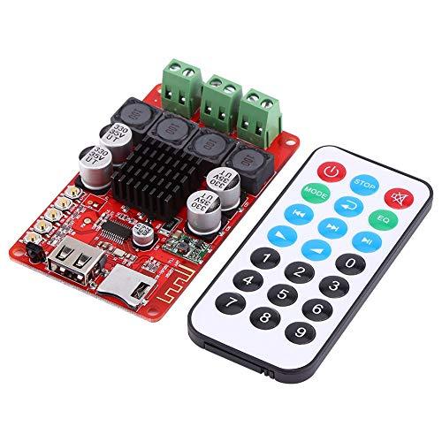 Audio-versterker kit, 50 W + 50 W draagbare draadloze audio-ontvanger versterker module TF-kaartdecoder met afstandsbediening