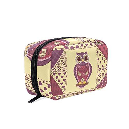 COOSUN - Bolsa de maquillaje con diseño de búhos para mujer