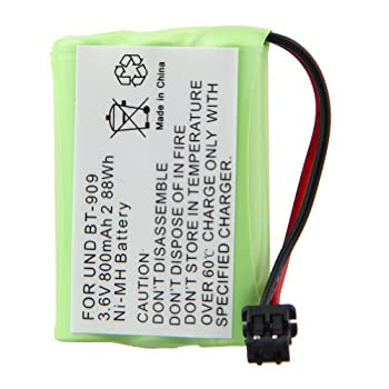 Cordless Phone Battery for Uniden BT-909 3.6V 800mAh NI-MH Fruit Green