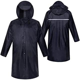 Poncho Outdoor Windbreaker Raincoats for Men and Women, Long Raincoats, Suitable for Camping, Hiking, Tourism, Sports (Color : Navy, Size : XXL)