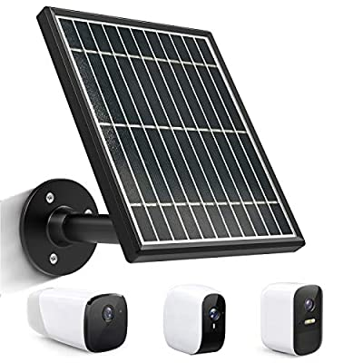 Solar Panel Compatible with eufyCam 2C/2C Pro/eufyCam 2 /eufyCam 2 Pro/eufyCam E, Includes Secure Wall Mount, 4.0M/13.1 ft Power Cable (No Include Camera)