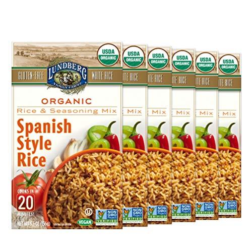 Lundberg Organic Spanish Rice Pilaf, 5.5 oz (Pack of 6), Gluten-Free, Vegan, 20 Minute Cook Time