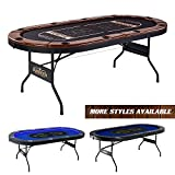 Barrington Charleston Poker Table for 10 Players with Faux...