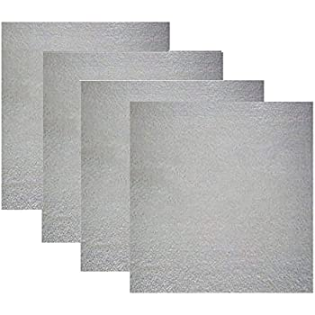 Ddfly 4pcs Microwave Oven Mica Wave Guide Cover Replacement Part Plates Sheets 5.1 x 5.1 inch