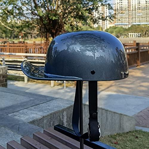 QHHALXZ Medio casco de motocicleta, diseño de gorra de béisbol de cara abierta, mitad casco para hombre y mujer, certificación Street Cruiser-DOT