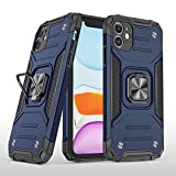 PUXICU Compatible with iPhone 11 Cases, Military Grade Heavy Duty Protective Phone Cover with Kickstand for iPhone 11-Blue