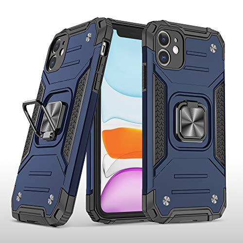 Cuoqing Cover iPhone 11, Antiurto Protezione Silicone con Kickstand Custodia per iPhone 11