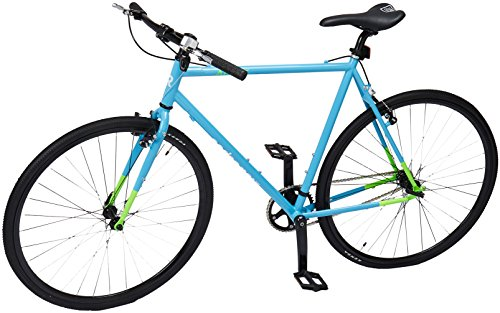 Retrospec Cycles AMOK V2 CycloCross Convertible Single-Speed/Commuter bicicleta con Chromoly Frame, Hi-Vis Blue, 58cm/Larg