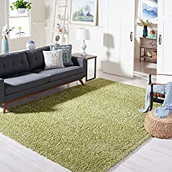 green shag rug home decor